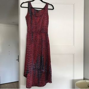 Silky black and red high-low dress, Aqua brand, XS